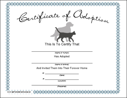pet rock birth certificate template .
